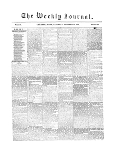 Chicopee Weekly Journal, October 13, 1855