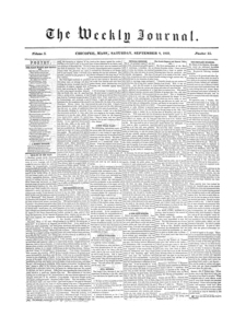 Chicopee Weekly Journal, September 8, 1855