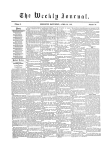 Chicopee Weekly Journal, April 28, 1855