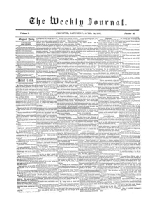 Chicopee Weekly Journal, April 14, 1855