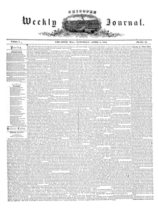 Chicopee Weekly Journal, April 1, 1854