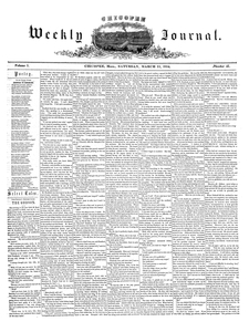 Chicopee Weekly Journal, March 11, 1854