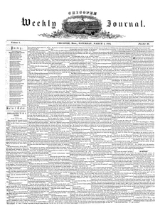 Chicopee Weekly Journal, March 4, 1854