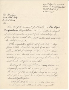 Letter from Robert E. Bertram to Massachusetts State College