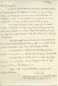 Letter from Bertram Libon to William L. Machmer