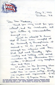 Letter from Arthur H. Peck to William L. Machmer