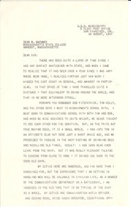 Letter from Al Klubock to William L. Machmer