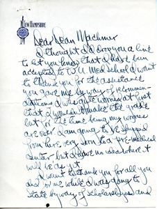 Letter from Dwight Bramble to William L. Machmer