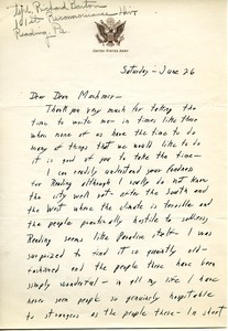 Letter from Richard Barton to William L. Machmer
