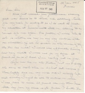 Letter from William P. Ryan to Massachusetts State College