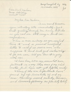 Letter from Richard Towle to William L. Machmer