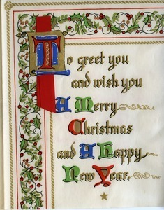 Christmas card from Arvid W. Anderson to Massachusetts State College