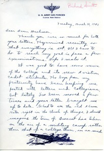 Letter from Richard Smith to William L. Machmer
