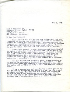 Letter from William L. Machmer to Paul O. Dickinson, Jr.