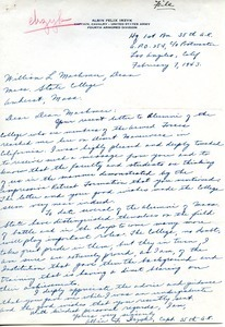 Letter from Albin F. Irzyk to William L. Machmer