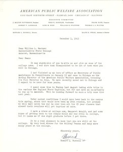 Letter from Howard L. Russell to William L. Machmer