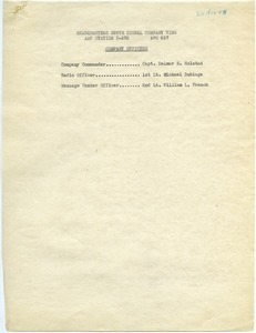 326th Signal Company Wing officers and roster