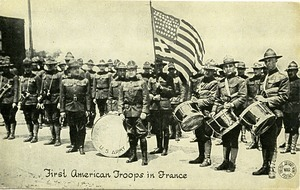 First American troops in France