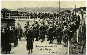 Americans en route to the front, France