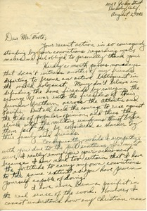 Letter from Wade P. Brummel to Caleb Foote