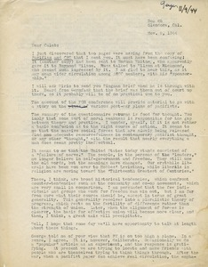 Letter from Henry Geiger to Caleb Foote
