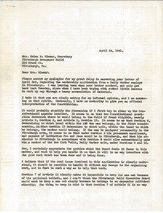 Letter from Victor Pasche to Helen M. Minear