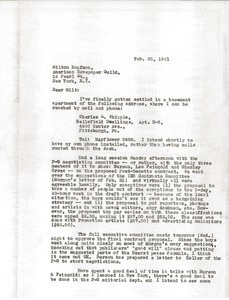 Letter from Charles L. Whipple to Milton Kaufman