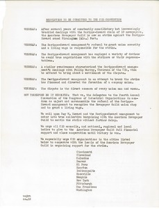 Resolution to be submitted to the CIO Convention