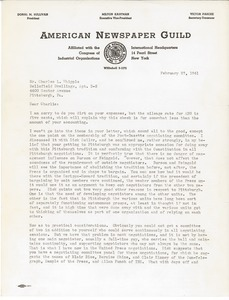 Letter from Victor Pasche to Charles L. Whipple
