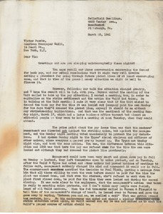 Letter from Charles L. Whipple to Victor Pasche