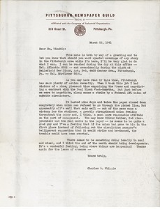 Letter from Charles L. Whipple to Mr. Winship