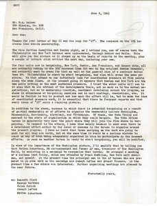Letter from Victor Pasche to M. A. Reiser