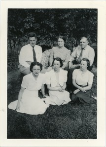 Mary Pond (front left) with the Davis family
