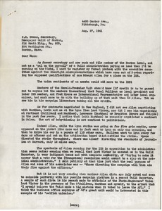 Letter from Charles L. Whipple to C. R. Owens