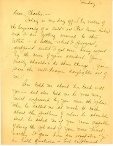 Letter from Mary Pond to Charles L. Whipple