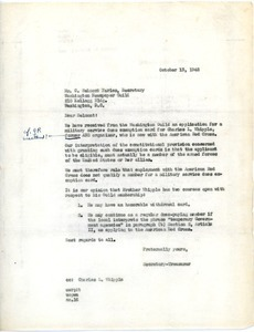 Letter from unidentified to C. Belmont Faries