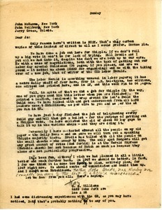Letter from G. K. Williams to John McManus, John Weilburg, and Jerry Gross