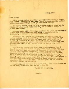 Letter from Charles L. Whipple to Hilda Sidaras