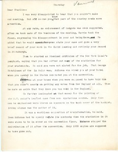 Letter from Hilda Sidaras to Charles L. Whipple
