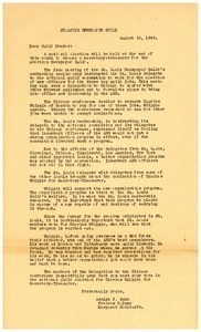 Letter from Adolph J. Rahm to Saint Louis Newspaper Guild members