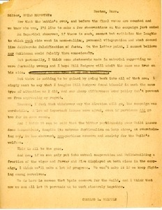 Letter from Charles L. Whipple to Guild Reporter Editor