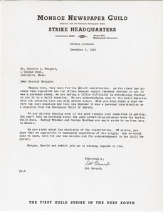 Letter from Dot Breard to Charles L. Whipple