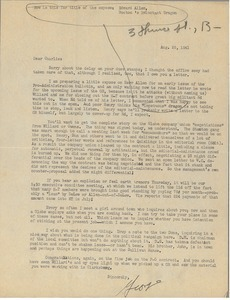 Letter from George Markham to Charles L. Whipple