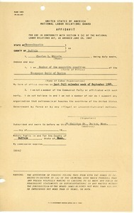 Affidavit from Charles L. Whipple certifying membership in the Executive Committee, Newspaper Guild of Boston