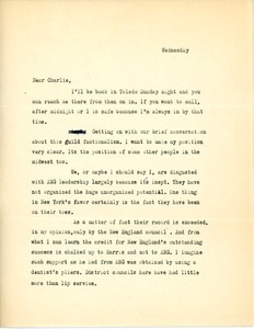 Letter from Jerry Gross to Charles L. Whipple