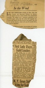 In the wind and First lady raps Guild leaders
