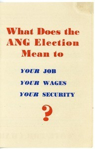 What does the ANG election mean to your job, you wages, your security?