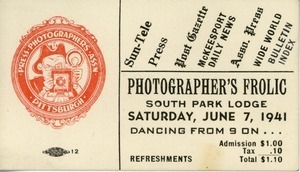 Photographer's frolic, South Park Lodge. Saturday, June 7, 1941