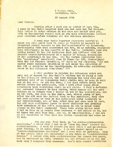 Letter from Charles L. Whipple to George Hutchinson