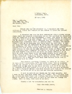 Letter from Charles L. Whipple to Fon C. McGinnis